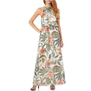 Connected Apparel Chain-Link Maxi Dress